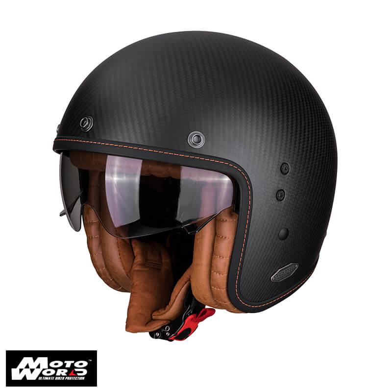 Scorpion Belfast Carbon Matt Black Jet Helmet