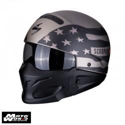 Scorpion EXO-Combat Rookie Titanium/Gray Jet Helmet
