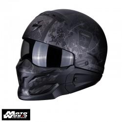 Scorpion EXO-Combat Stealth Matt/Black/Silver Jet Helmet