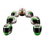 Scorpion EXO-2000 EVO AIR Bautista Replica Black/Green/Red Full Face Motorcycle Helmet