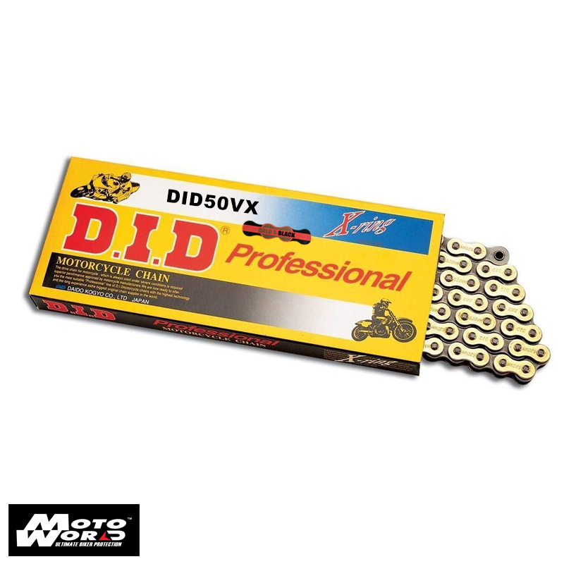 DID D 50VX Pro Street X-Ring Chain - Gold
