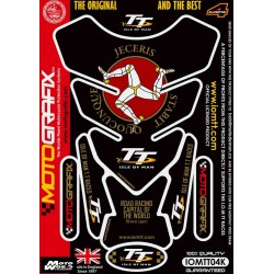 Motografix CAD IOMTT04K Official Isle of Man TT Tankpad -Black