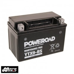 Poweroad YTX9-BS Maintenance Free Motorcycle Battery