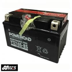 Poweroad YTZ10S-BS Maintenance Free Motorcycle Battery