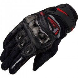 Komine GK224 Carbon Protect Leather Mesh Gloves