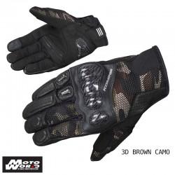Komine GK 197 Carbon Protect 3D Mesh Gloves Senna