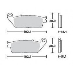 SBS 183MS Front Sinter Brake Pad for BMW C600 Sport 12-