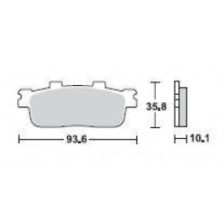 SBS 201MS Front Sinter Brake Pad for SYM GTS250 07-