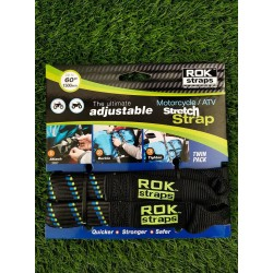 OXFORD ROK STRAP HD 25MM ADJ BLACK + BLUE/GREEN