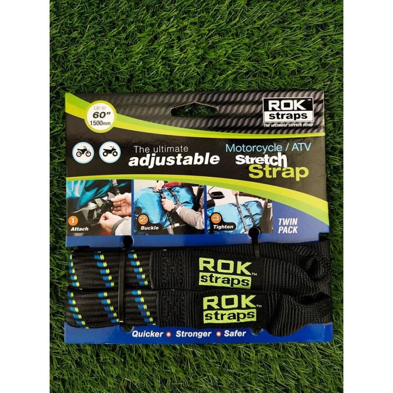 OXFORD ROK STRAP HD 25MM ADJ BLACK + BLUE/GREEN